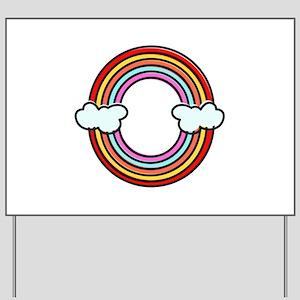 Double Rainbow Yard Sign