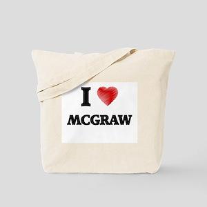 I Love Mcgraw Tote Bag