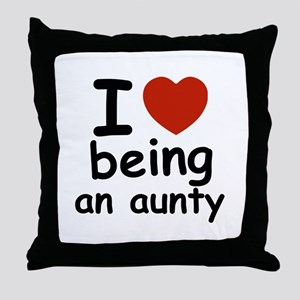I love being an aunty Throw Pillow