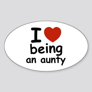 I love being an aunty Sticker (Oval)