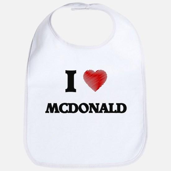 I Love Mcdonald Bib