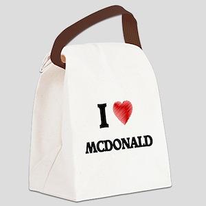 I Love Mcdonald Canvas Lunch Bag