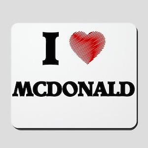 I Love Mcdonald Mousepad