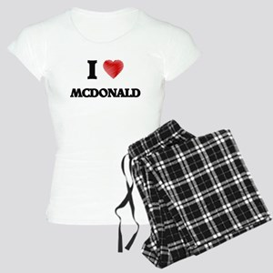 I Love Mcdonald Women's Light Pajamas