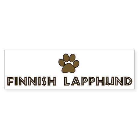 Finnish Lapphund (dog paw) Bumper Sticker