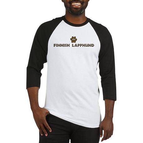 Finnish Lapphund (dog paw) Baseball Jersey