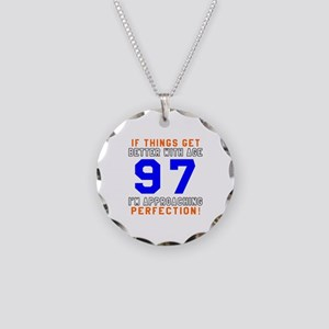 97 I'm Approaching Perfectio Necklace Circle Charm