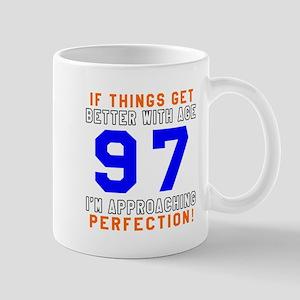 97 I'm Approaching Perfection Birthday Mug