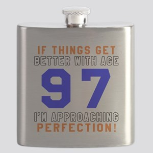 97 I'm Approaching Perfection Birthday Flask