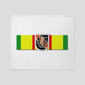 Ribbon - VN - VCM - 5th SFG Throw Blanket