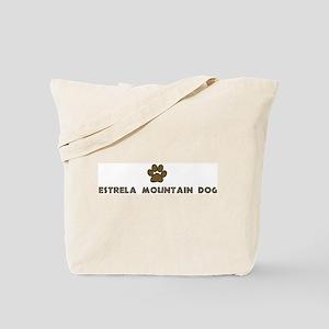 Estrela Mountain Dog (dog paw Tote Bag