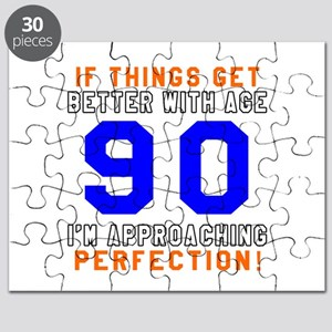 90 I'm Approaching Perfection Birthday Puzzle