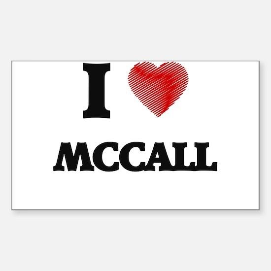 I Love Mccall Decal