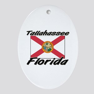 Tallahassee Florida Oval Ornament