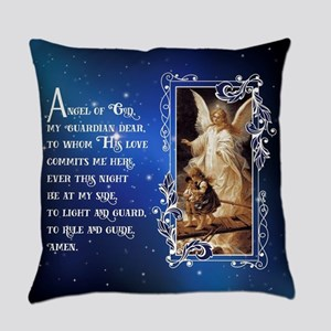 Angel of God (Night) Everyday Pillow