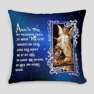 Angel of God (Night) Everyday Pillow