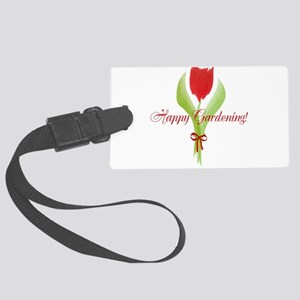 Cute Red Tulip Luggage Tag