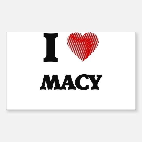 I Love Macy Decal