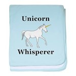 Unicorn Whisperer baby blanket