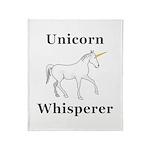 Unicorn Whisperer Throw Blanket