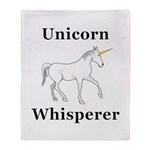 Unicorn Whisperer Throw Blanket