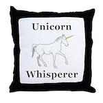 Unicorn Whisperer Throw Pillow