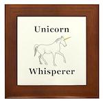 Unicorn Whisperer Framed Tile