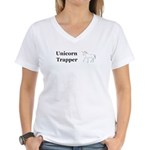 Unicorn Trapper Women's V-Neck T-Shirt