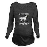 Unicorn Trapper Long Sleeve Maternity T-Shirt