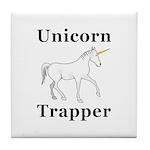 Unicorn Trapper Tile Coaster