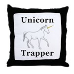 Unicorn Trapper Throw Pillow