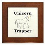 Unicorn Trapper Framed Tile