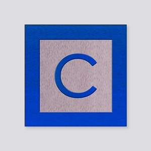 Wood Bock Letter C Sticker