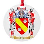 Peto Round Ornament