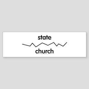 Separate Church and State Bumper Sticker
