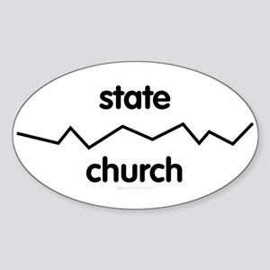 Separate Church and State Oval Sticker