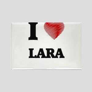 I Love Lara Magnets