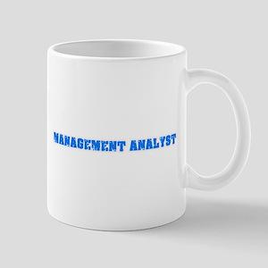 Management Analyst Blue Bold Design Mugs