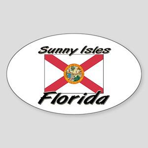 Sunny Isles Florida Oval Sticker
