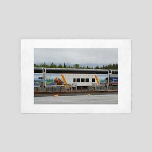 Wilderness Express, Denali, Alaska 4' x 6' Rug