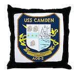 USS Camden (AOE 2) Throw Pillow