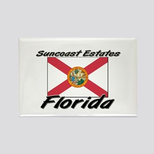 Suncoast Estates Florida Rectangle Magnet