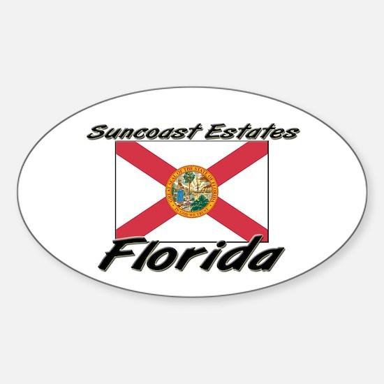Suncoast Estates Florida Oval Decal