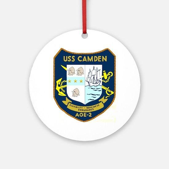 USS Camden (AOE 2) Ornament (Round)