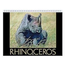 Rhinoceros Wall Calendar