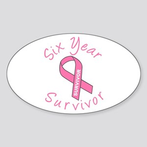 Six Year Survivor Oval Sticker