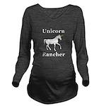 Unicorn Rancher Long Sleeve Maternity T-Shirt