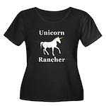 Unicorn Women's Plus Size Scoop Neck Dark T-Shirt