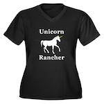 Unicorn Ranc Women's Plus Size V-Neck Dark T-Shirt
