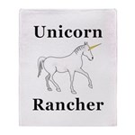 Unicorn Rancher Throw Blanket